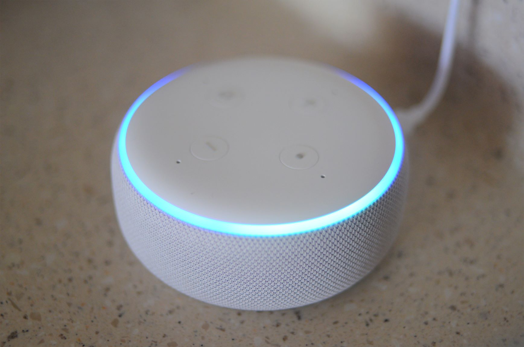 Echo Dot Light Ring Blue Bright